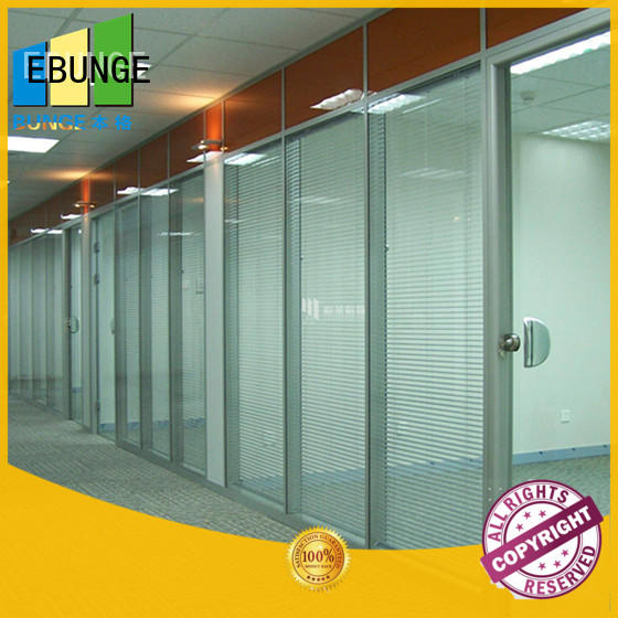 EBUNGE frameless glass wall from China for banquet hall