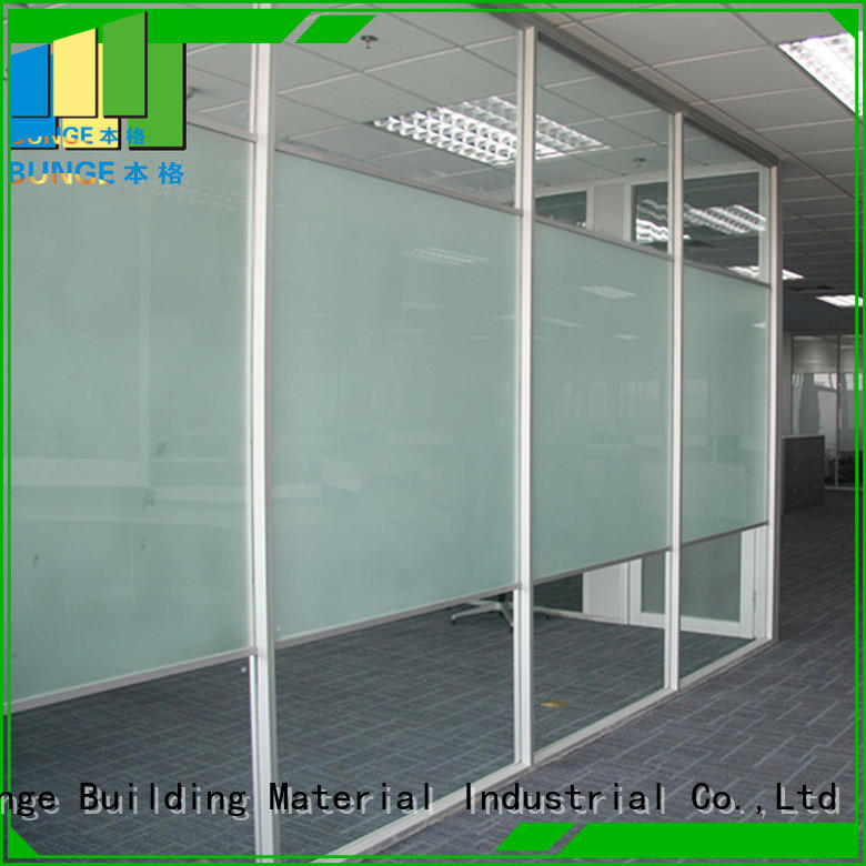 Hot partition glass partition modular tempered Bunge Brand