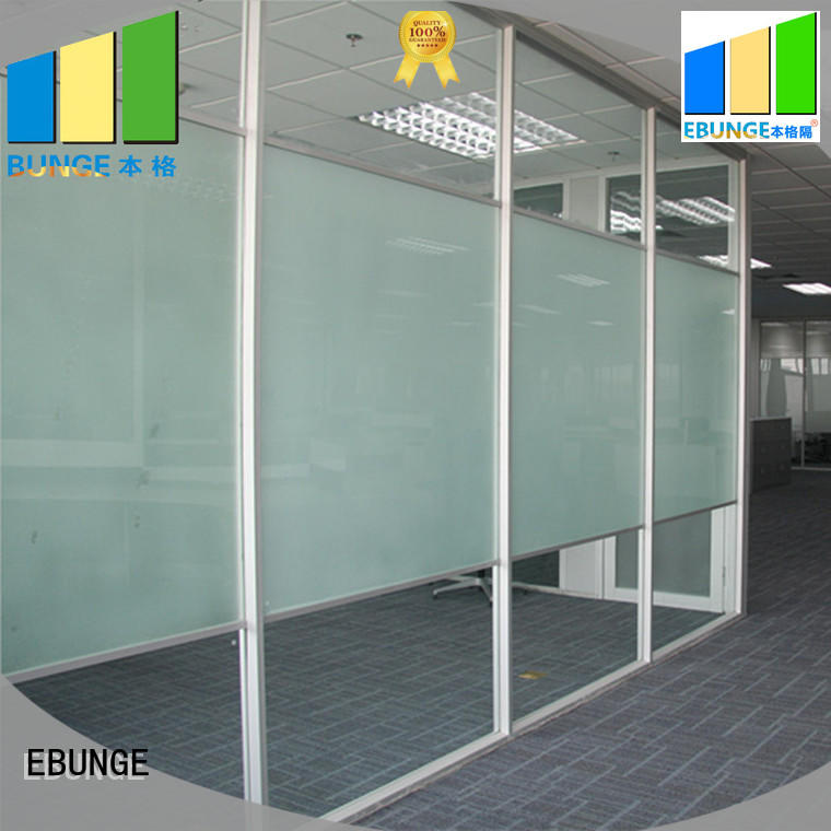EBUNGE double tempered glass partition series for office