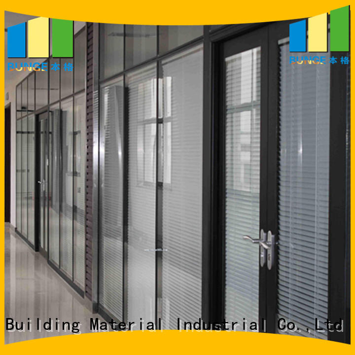 Bunge Brand design partition custom partition wall with glass