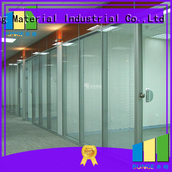aluminum frame glass partition factory direct supply for shop