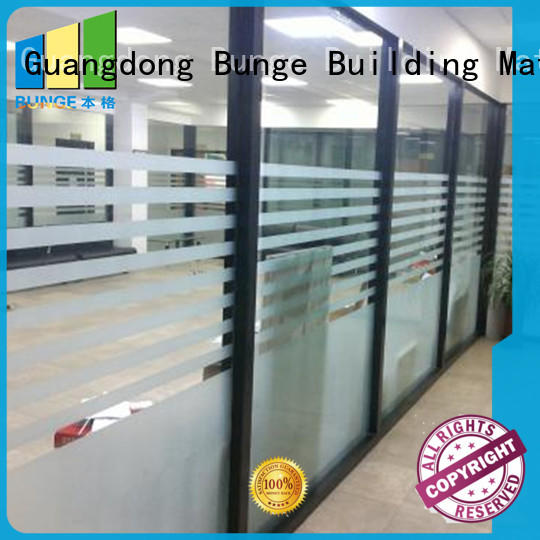 aluminum frame glass walls and doors customized for banquet hall