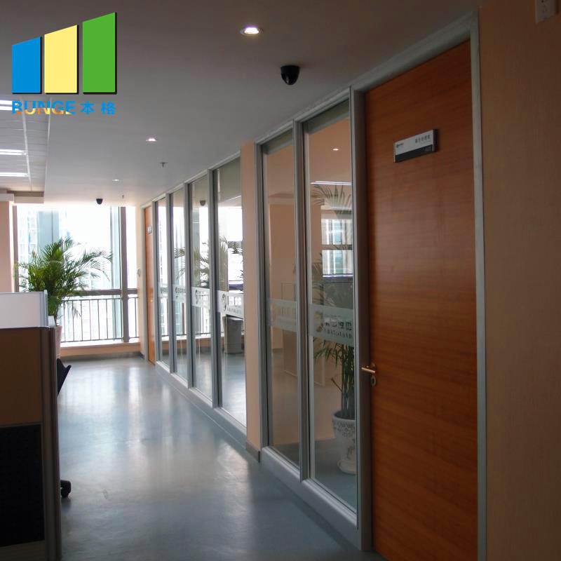 product-Modern Design Modular Fixed Office Glass Partition Wall-EBUNGE-img-1