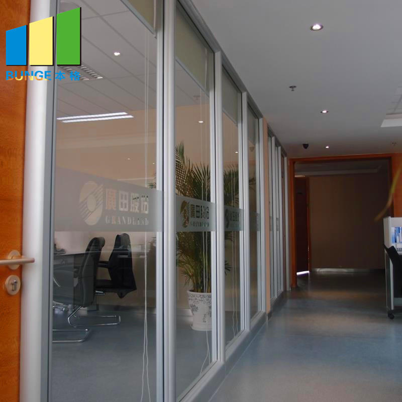 product-EBUNGE-Modern Design Modular Fixed Office Glass Partition Wall-img