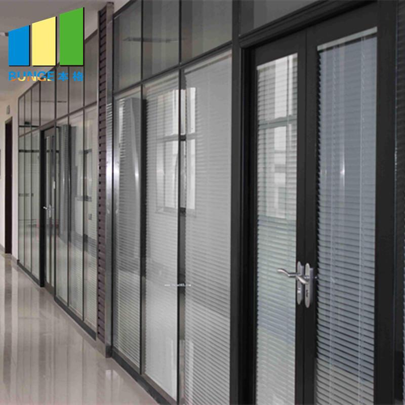 Modern Design Modular Fixed Office Glass Partition Wall