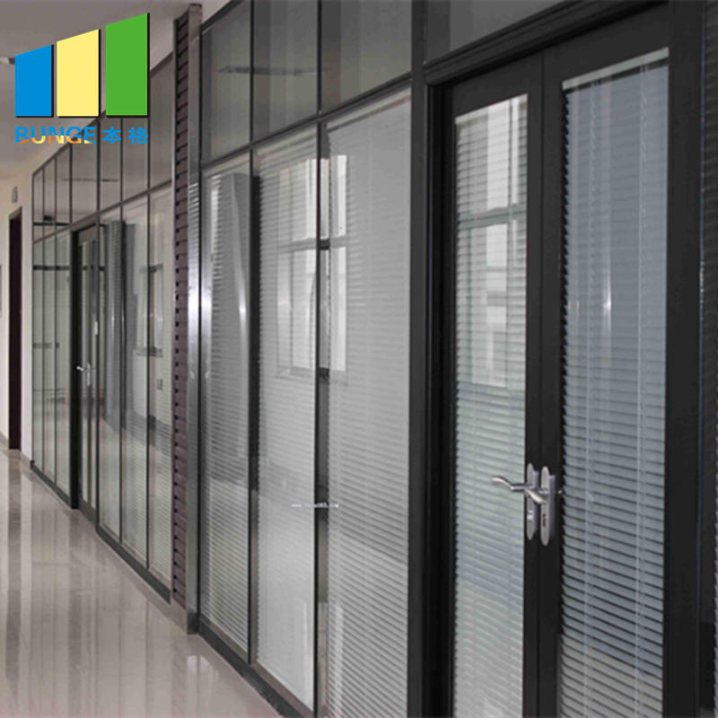 Modern Design Modular Fixed Office Glass Partition Wall