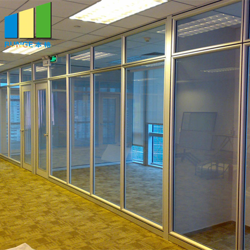 EBUNGE-Demontable Office Tempered Glass Partition Wall with Aluminium Frame