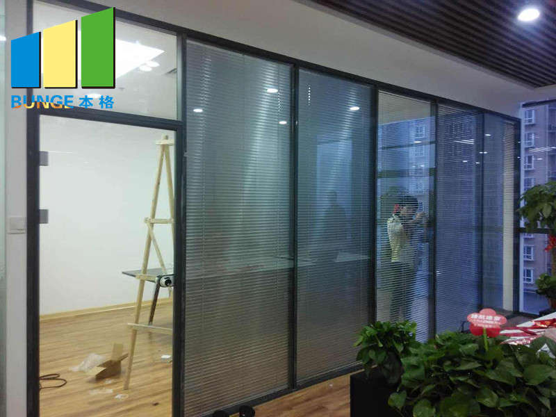 Bunge-Best Glass Partition Glazed Aluminium Profile Office Glass Partition Wall