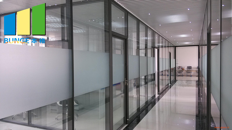 Bunge-Best Glass Partition Glazed Aluminium Profile Office Glass Partition Wall-4