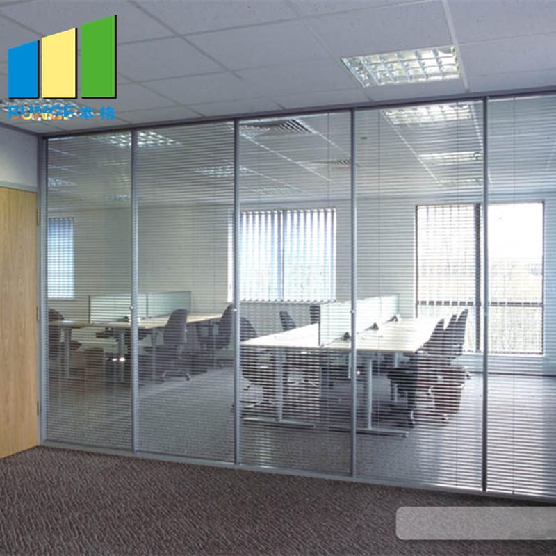 Commercial Office Aluminium Frame Fixed Single Glass Partition Wall-movable wall, folding partition,operalbe wall-EBUNGE