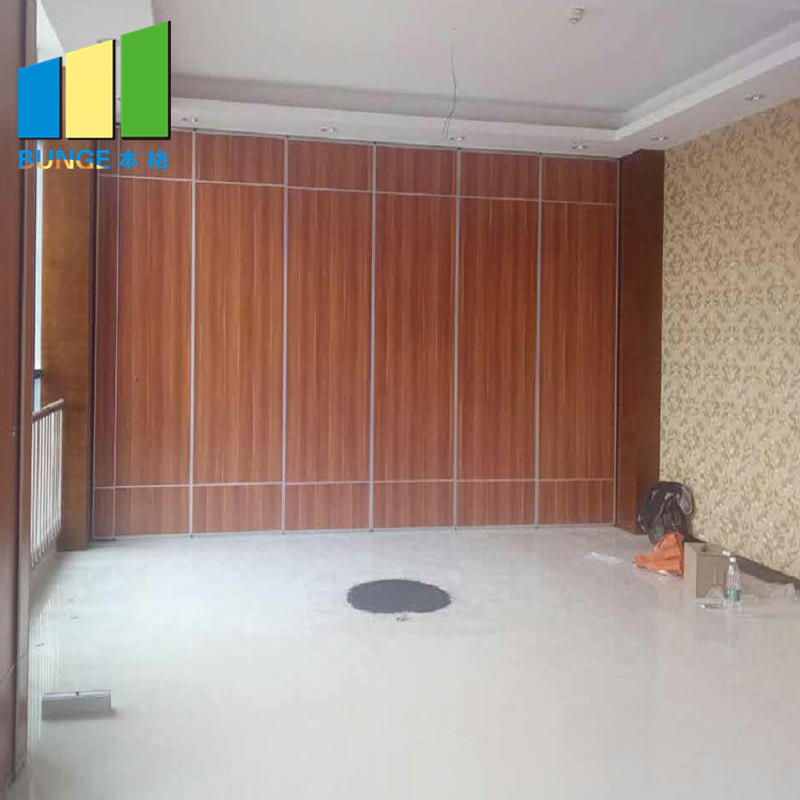 Banquet Hall Gypsum Board Wood Wall Partitions Removable Sliding Partition Walls-EBUNGE
