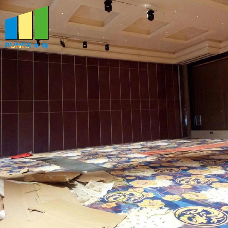 product-EBUNGE-Banquet Hall Gypsum Board Wood Wall Partitions Removable Sliding Partition Walls-img