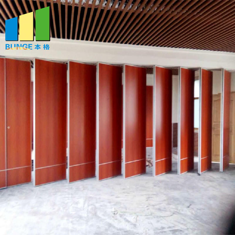 Aluminium Office Folding Soundproof Movable Meeting Room Partition Walls