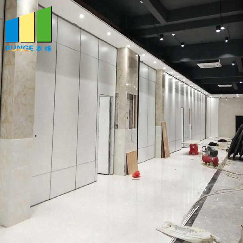 Commercial Office Room Modular Partitions Sound Proofing Sliding Partition Wall Manufacturer-EBUNGE