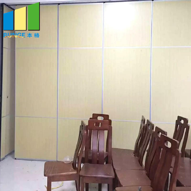 Manual Operating System Banquet Hall Removable Acoustic Folding Moveable Wall Partitions