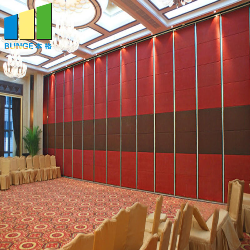 School Acoustic Accordion Door Partitions Classroom Folding Door Sliding Wall Partitions for Conference