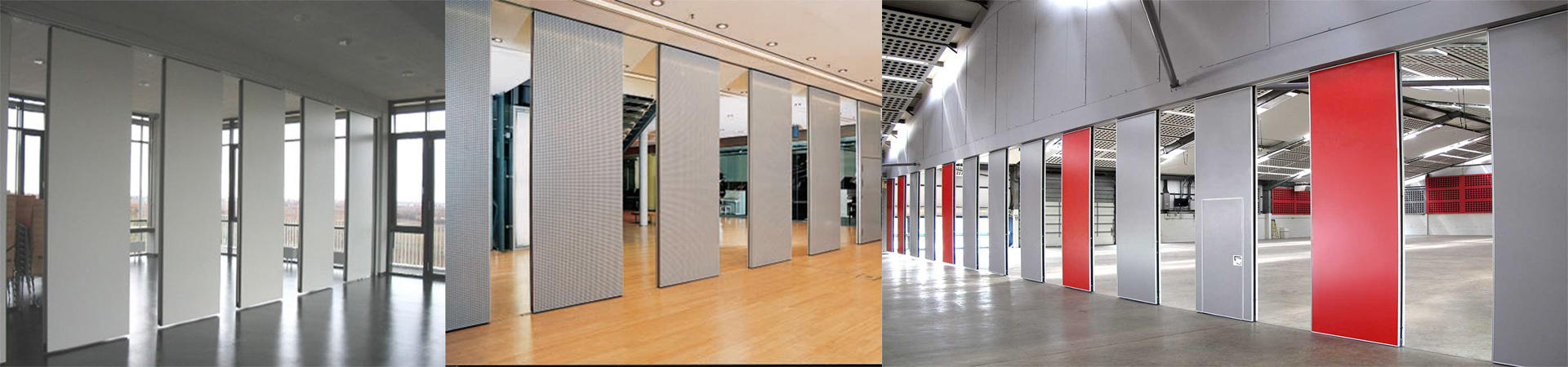 MDF Folding Partition Moveable Walls Panels Operable Soundproof Partitions for Office-EBUNGE