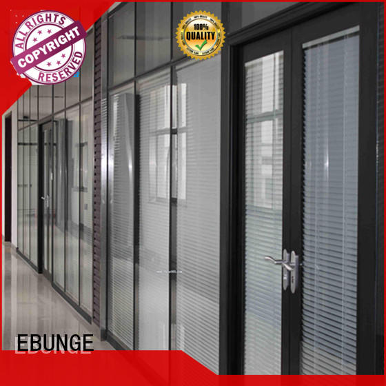 EBUNGE glazed glass walls and doors factory direct supply for banquet hall