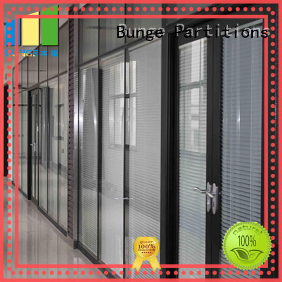 EBUNGE solid glass partition systems directly sale for conference room