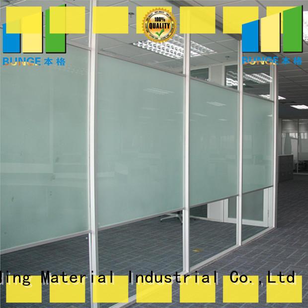 EBUNGE aluminum frame glass partition wall design manufacturer for shop