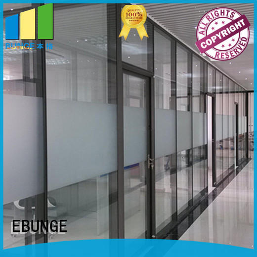 aluminum frame office design glass walls customized for shop