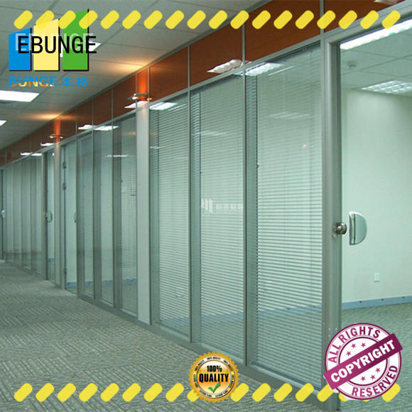 EBUNGE solid glass partition directly sale for shop