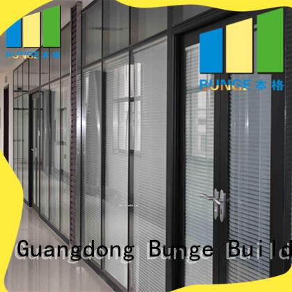 glass glazed profile demontable Bunge Brand glass partition supplier