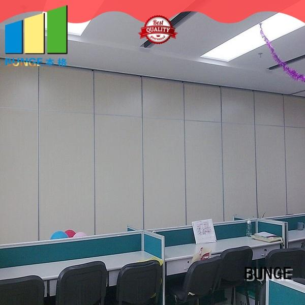 BUNGE movable partition wall directly sale for hotel