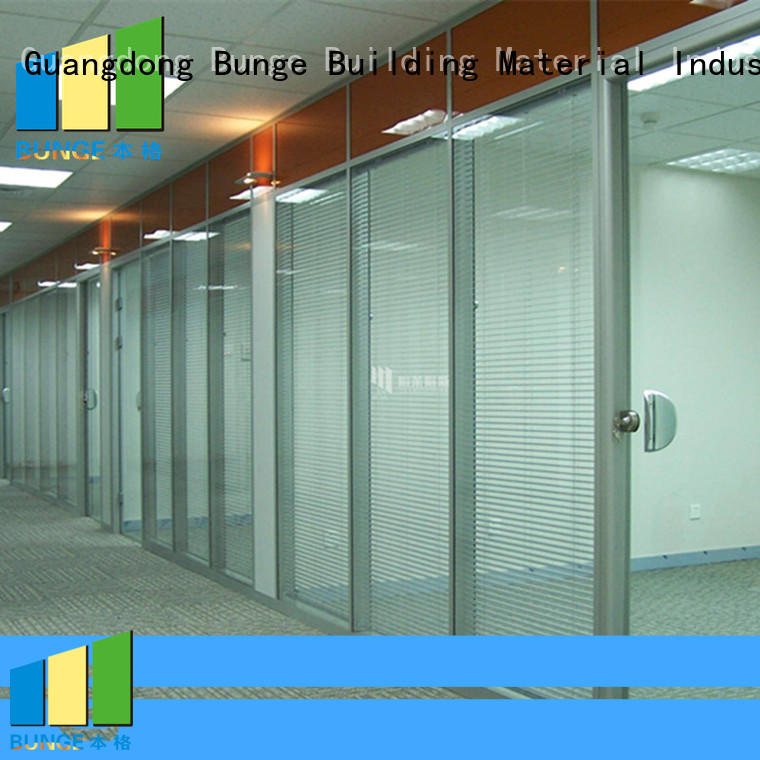 alloy modular anodized tempered office glass partition design Bunge