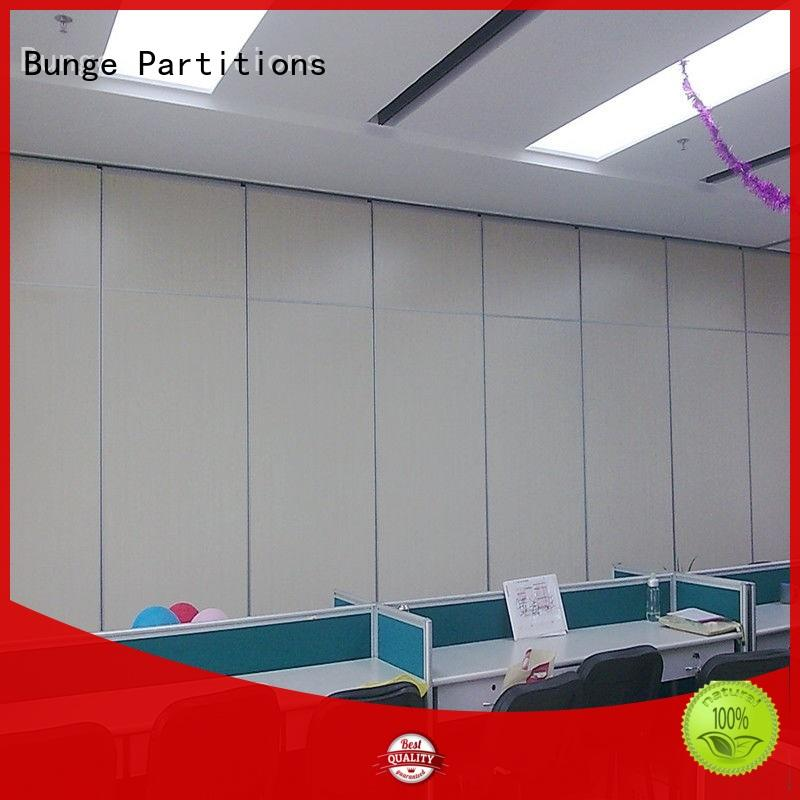 BUNGE sliding wall partition with door supplier for hotel