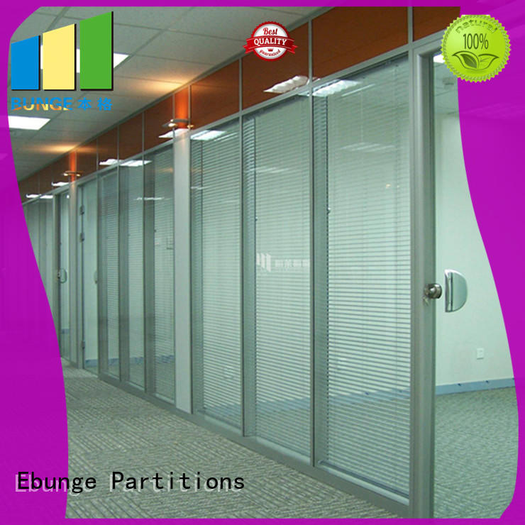 EBUNGE fixed single glass glass door divider wholesale for conference room