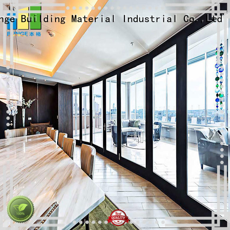 glass partition walls aluminum frame for office EBUNGE