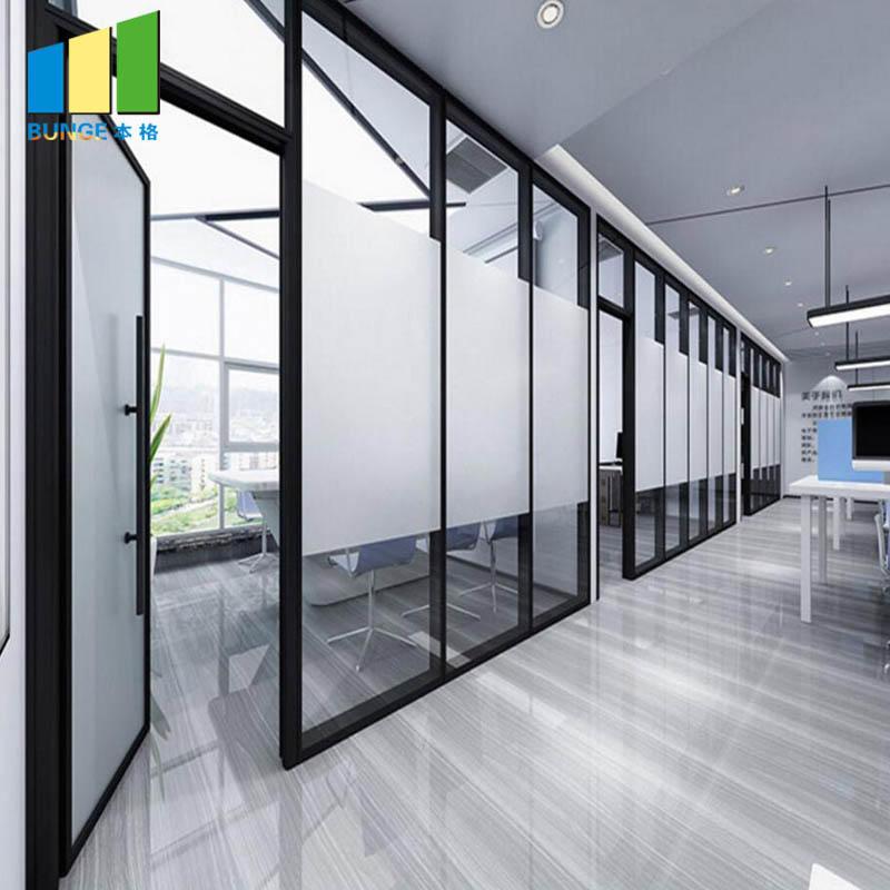 Interior Aluminum Frame Folding Sliding Doors Glass Partitions
