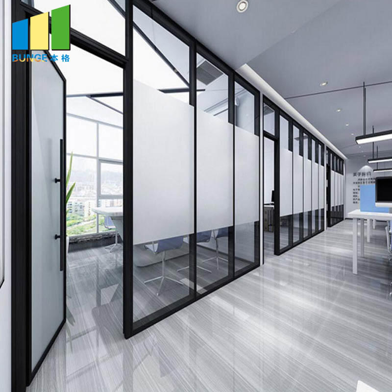 Interior Aluminum Frame Folding Sliding Doors Glass Partitions