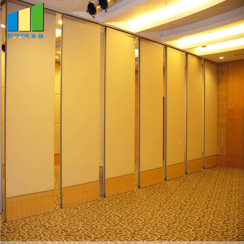 Operable Wooden Soundproof Folding Hotel Partition Walls Malaysia