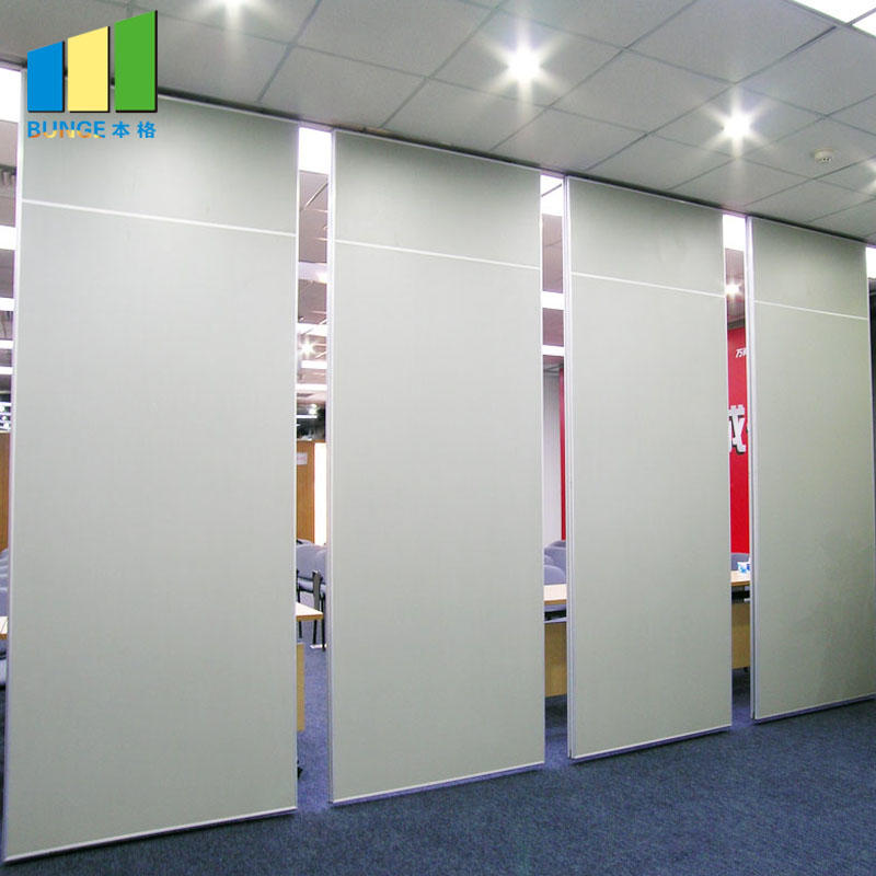 Decorative Wooden Sound Proof Operable Partition Walls for Meeting Room
