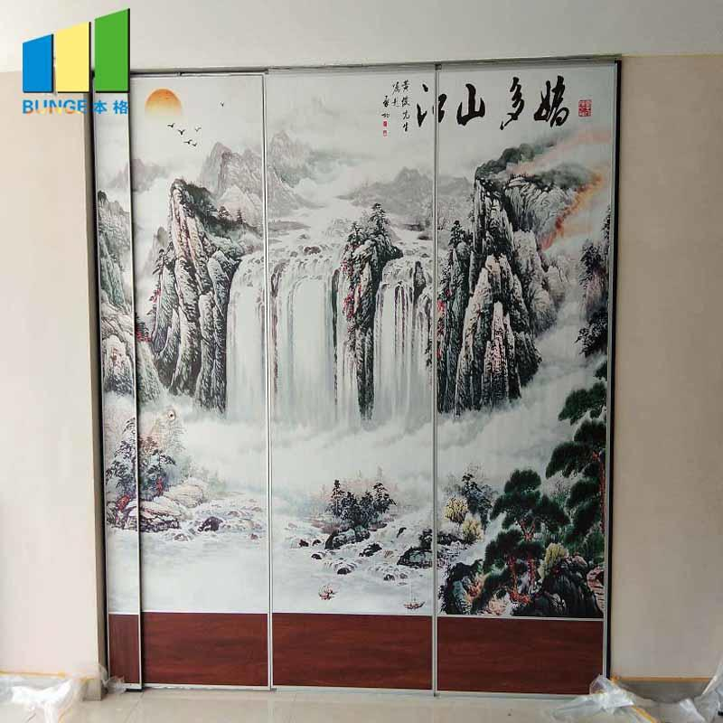 product-85 mm Type Movable Sound Proof Partition Walls for Banquet Hall-EBUNGE-img-1