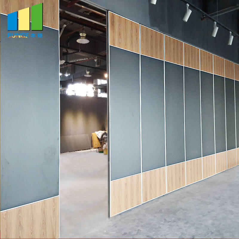 Mdf Board Aluminium Frame Soundproof Operable Partition Wall for Auditorium
