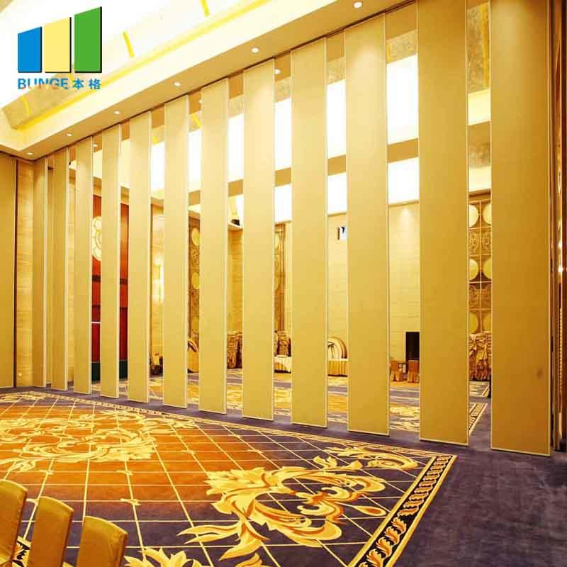 Ballroom Acoustic Movable Walls Sliding Folding Wall Partitions