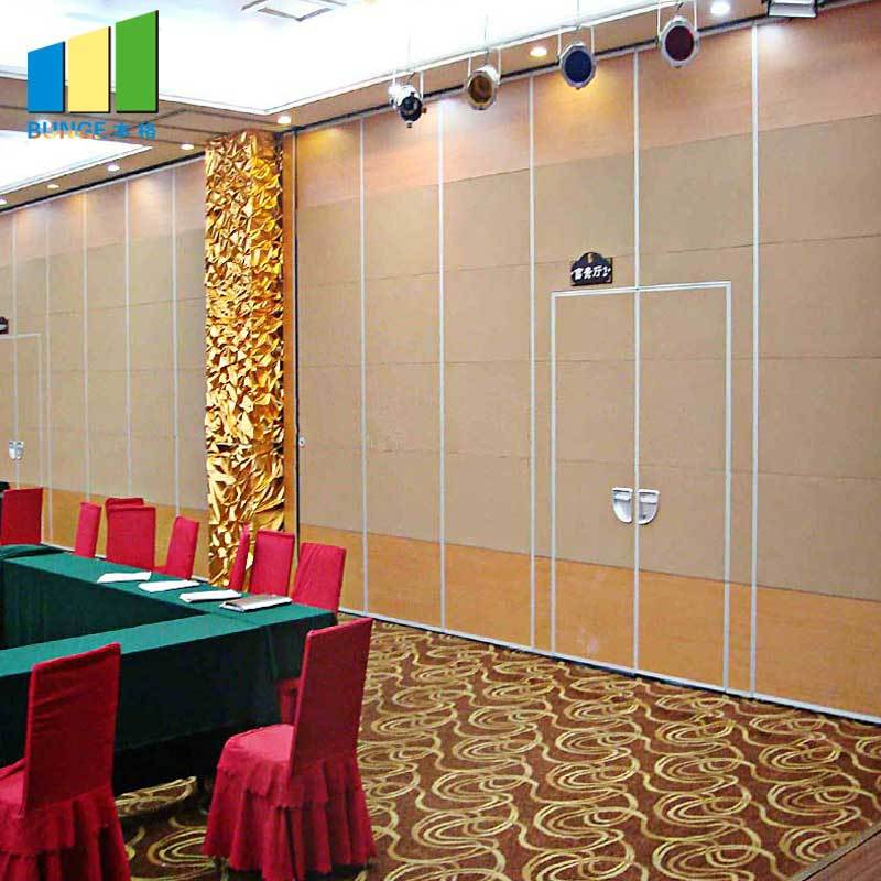 Hotel Moveable Partitions Acoustic Wooden Hanging Folding Partition Walls