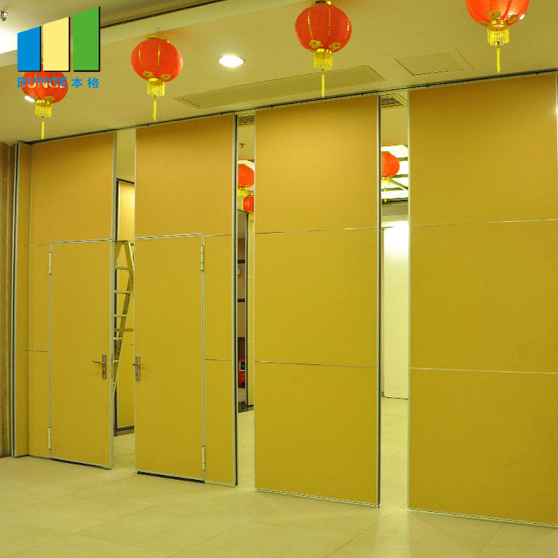 Sound Proof Sliding Operable Retractable Wall Partitions for Banquet Hall-EBUNGE