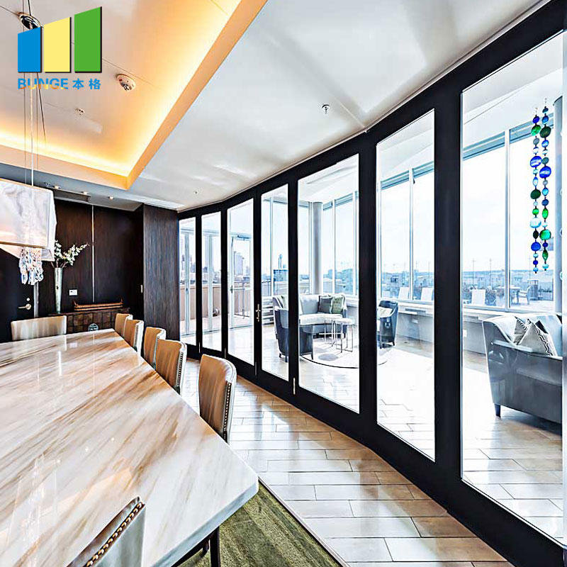 Office Aluminum Frame Sliding Glass Partition Walls