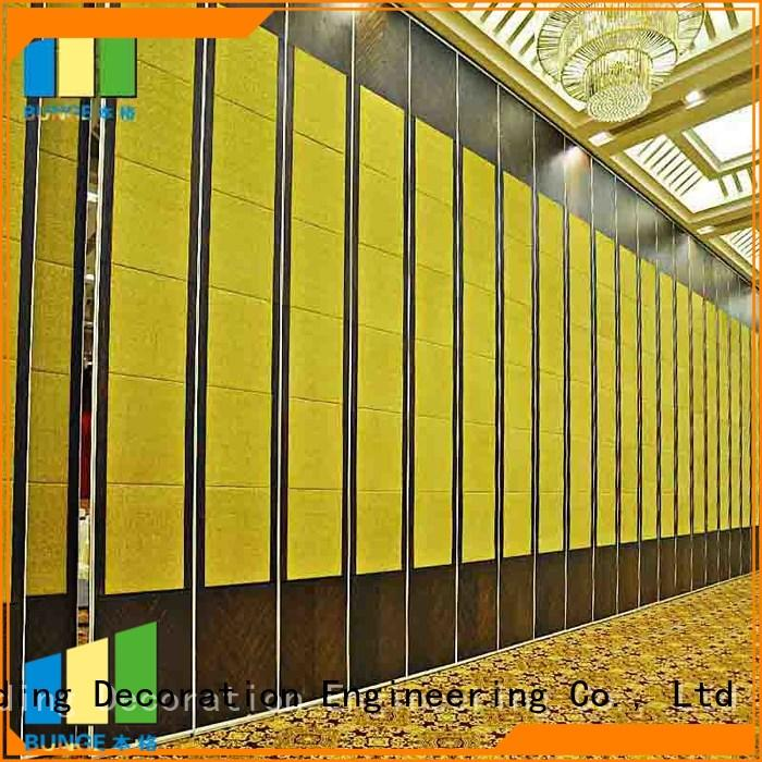 proof church Bunge Brand sliding partition walls
