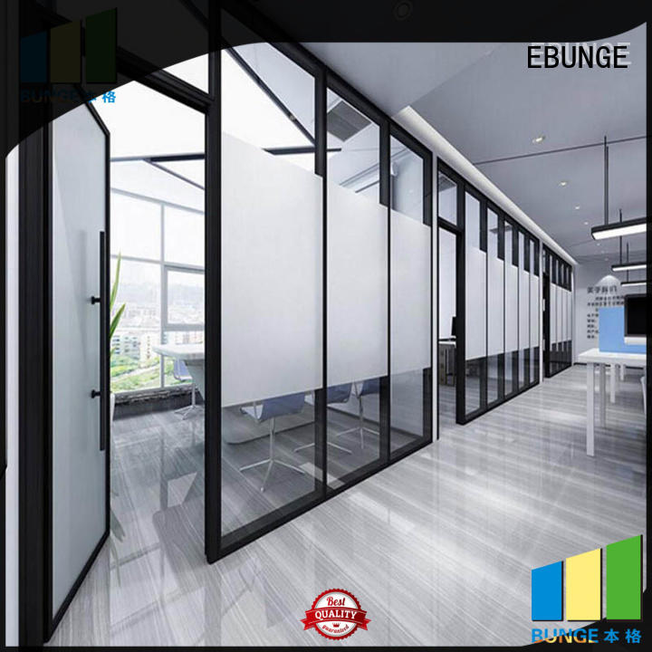 EBUNGE eco-friendly glass wall systems for conference room