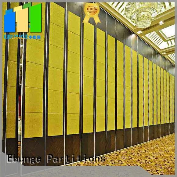 EBUNGE multipurpose sliding folding partition manufacturer for schools