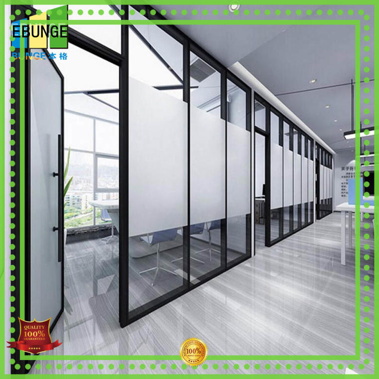 interior glass partitions multi color for shop EBUNGE