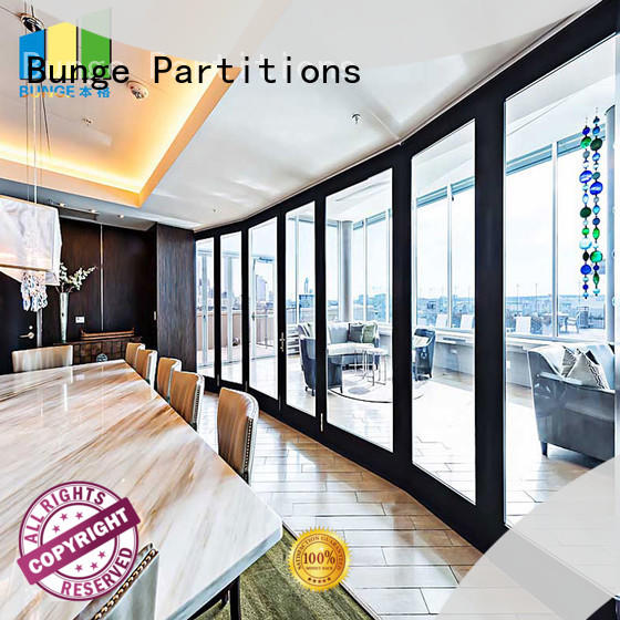 movable glass partitions for banquet hall EBUNGE