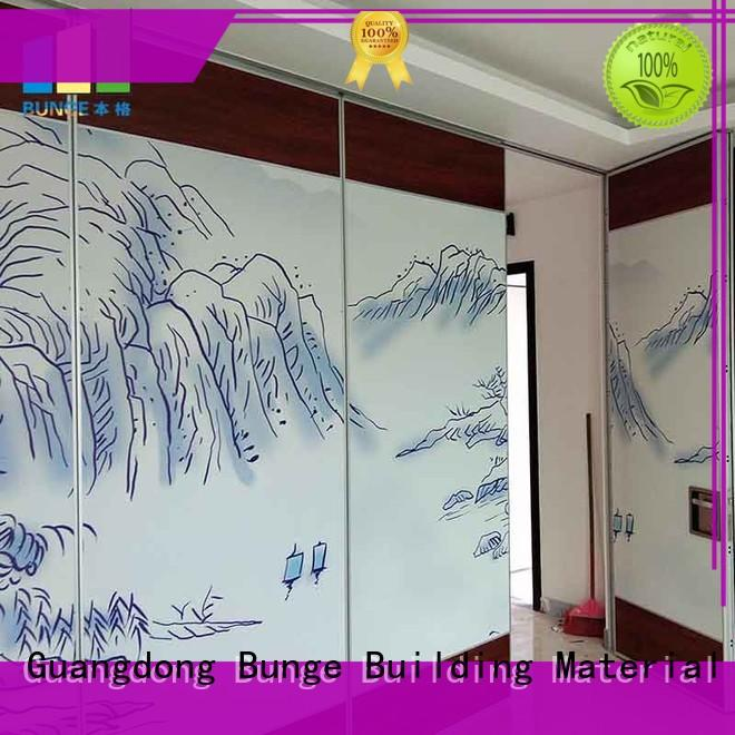 foldable partition wall hanging system for conference room EBUNGE