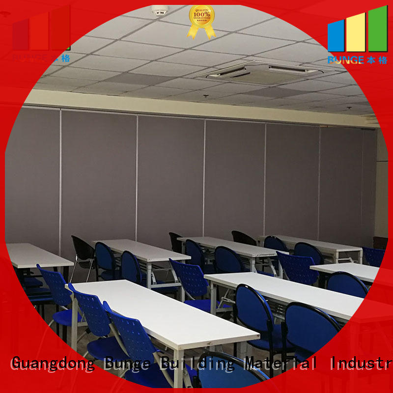 EBUNGE retractable sliding wall dividers factory direct supply for schools