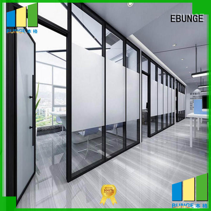 EBUNGE durable glass wall systems supplier for shop